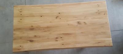 Baumkantentisch Eiche 200 cm lang - 4 cm stark