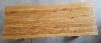 Esstisch Eiche mit schweizer Kante 260 cm lang - 4 cm stark