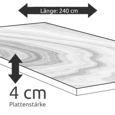 Tischplatte Eiche Länge 240 x Breite 100 cm / Stärke 4 cm
