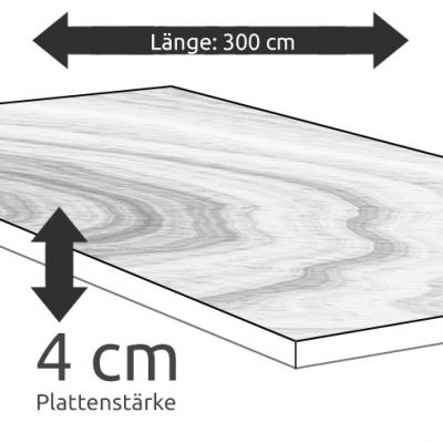Tischplatte Eiche Länge 300 x Breite 100 cm / Stärke 4 cm
