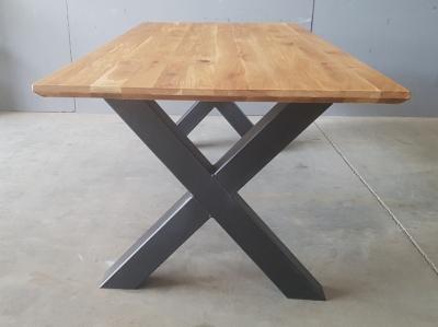 Tischgestell KREUZ aus Metall schwarz lackiert
