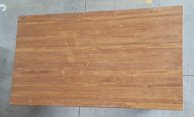 Esstisch Balkeneiche 180 cm lang - 10 cm stark