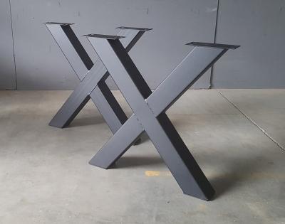 X-Gestall Stahl schwarz