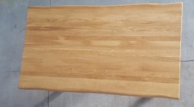 Baumkantentisch Eiche 160 cm lang - 4 cm stark