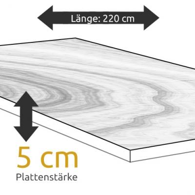 Tischplatte Eiche Länge 220 x Breite 100 cm / Stärke 5 cm