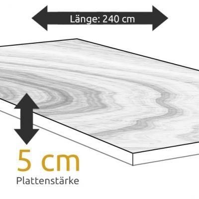 Tischplatte Eiche Länge 240 x Breite 100 cm / Stärke 5 cm