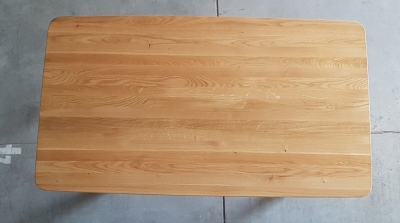 Esstisch Eiche mit schweizer Kante 160 cm lang - 4 cm stark