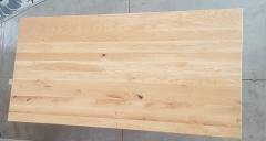 Esstisch Eiche mit schweizer Kante 200 cm lang - 4 cm stark