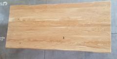 Baumkantentisch Eiche 220 cm lang - 4 cm stark