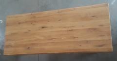 Baumkantentisch Eiche 240 cm lang - 4 cm stark