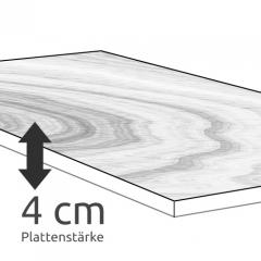 Konfigurieren Sie Ihren Esstisch mit 4 cm Plattenstärke
