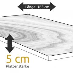 Tischplatte Eiche Länge 165 x Breite 90 cm / Stärke 5 cm
