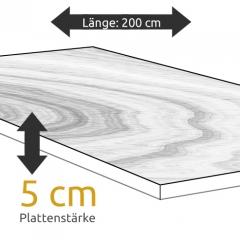 Tischplatte Eiche Länge 200 x Breite 100 cm / Stärke 5 cm