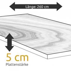 Tischplatte Eiche Länge 260 x Breite 100 cm / Stärke 5 cm
