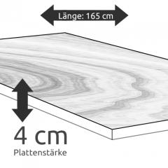 Tischplatte Eiche Länge 165 x Breite 65cm / Stärke 4 cm
