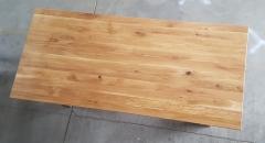 Esstisch Eiche mit schweizer Kante 220 cm lang - 4 cm stark