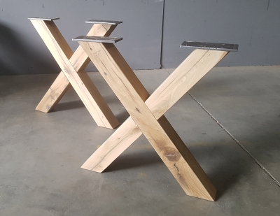 X-Gestell Eiche
